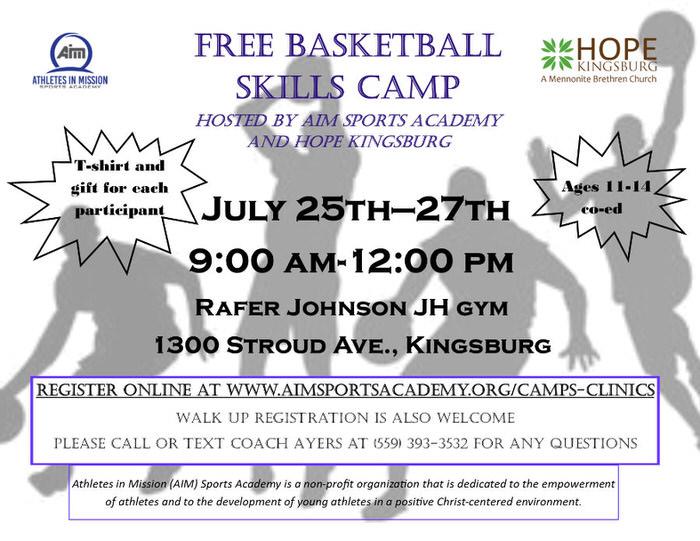 Free Basketball Camp - Kingsburg